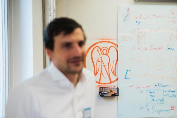 Lukas Treichl im Freshfields Lab