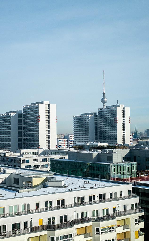 Ausblick auf Berlin aus dem Billie Büro