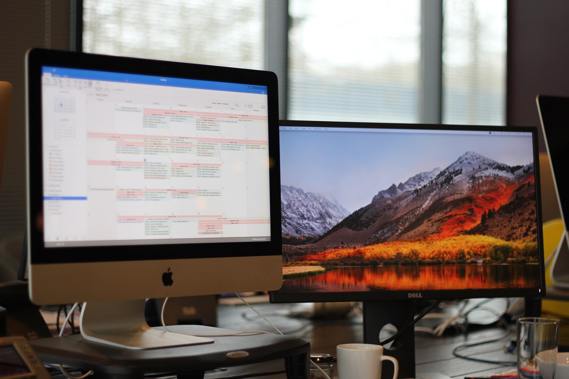 Mehrere Bildschirme oder Fenster gleichzeitig nutzen